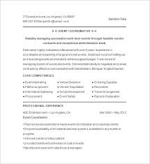 Wedding Resume Sample Event Planner Resume Wedding Event Planner Resume Accessoires