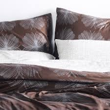aequorea in chocolate u0026 silver duvet cover sham set modern