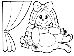doll coloring pages for kids