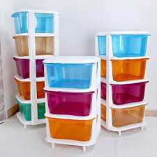 Large Storage Cabinets Best Large Candy Colored Plastic Drawer Storage Cabinets Lockers