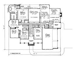 traditional style house plan 4 beds 2 50 baths 2994 sq ft plan