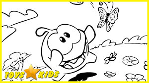 om nom the coloring book flower meadow coloring pages for kids