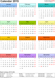 calendar 2015 uk 16 free printable pdf templates