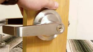 Exterior Door Knob Replacement by Storeroom Function Lever Handle From Www Lockpeddler Com Youtube