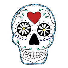 halloween skull transparent background simple sugar skull clip art white clipart free clipart painted
