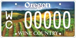 Make Your Own Vanity Plate The Vineyard Behind Oregon U0027s Wine Country License Plate Wine