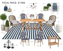 Outdoor Dining Room Budget Room Hamptons Outdoor Dining Room Emily Henderson