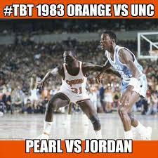 Syracuse Meme - syracuse memes on twitter tbt 1983 cuse vs unc pearl vs