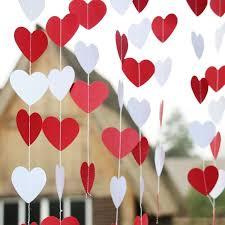 valentines day decor 5pcs white heart garland valentines day decor wedding