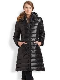 moncler moka puffer jacket in black lyst