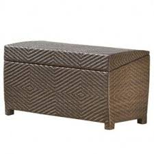Wicker Storage Ottoman Coffee Table Wicker Storage Ottomans Foter