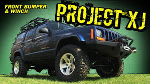 project xj smittybilt xrc bumper and quadratec winch youtube