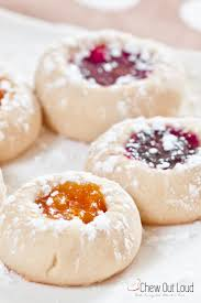 buttery jam thumbprint cookies chew out loud