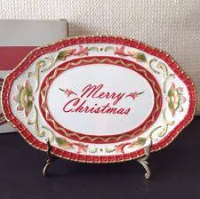 fitz and floyd winter table platters pieces ebay