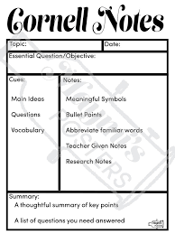 24 best cornell notes images on pinterest cornell notes