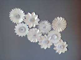 Flower Backdrop Pearlescent White Giant Paper Flower Backdrop Wall Decoration