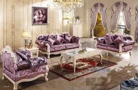 fabric living room sets 3 2 1 purple fabric sofa set living room furniture modern wooden sex