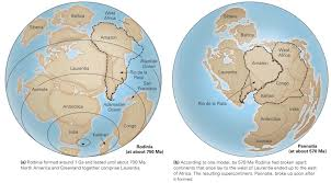 Map Of Continents And Oceans The Proterozoic The Earth In Transition Learning Geology