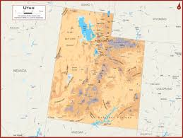 colorado physical map utah physical state map
