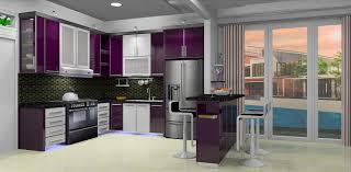 Purple Kitchen Cabinets by Purple Kitchen White Cabinets U2013 Quicua Com
