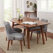white dining room furniture better homes and gardens reed mid century modern dining table