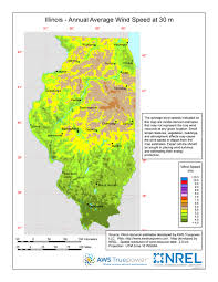 of illinois map windexchange illinois 30 meter residential scale wind resource map