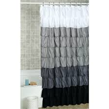 Blue Ticking Curtains Gray And White Ticking Stripe Shower Curtain Shower Curtains Ideas
