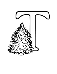 christmas tree alphabet coloring page alphabet coloring pages of