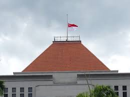 White House Flag Half Mast File National Flag At Half Staff At Parliament House Singapore