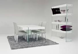 white modern dining table set favored black and white dining room decors with square modern dining