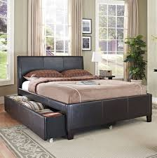 Espresso Twin Bed With Trundle Amazon Com Standard Furniture New York Upholstered Trundle Bed In