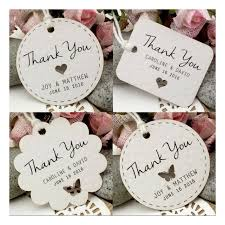 Wedding Gift Tags Personalized White Wedding Favor Thank You Gift Tags Set A