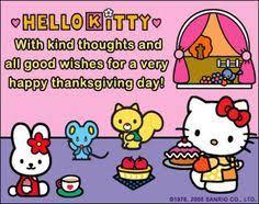happy thanksgiving sanrio hello happy