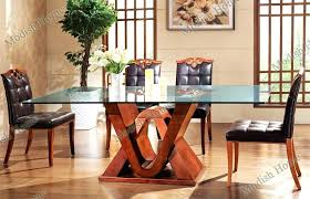 Glass And Wood Dining Tables Best Wooden Dining Table Designs Interesting Best Wood For Dining