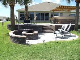 Patio With Firepit Backyard Paver Ideas Popular Of Small Patio Paver Ideas Small