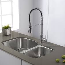 kraus commercial pre rinse chrome kitchen faucet kraus kpf 1612ss stainless steel commercial style pre rinse kitchen