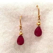 ruby drop earrings ruby drop earrings stephany hitchcock designs