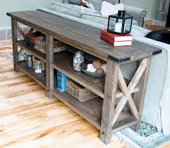 contemporary decoration console table wood modern rustic