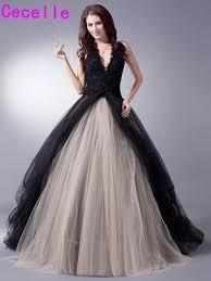 Halter Wedding Dresses Online Shop Black Colorful Tulle Gothic Wedding Dresses With