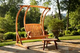 Wooden Garden Swing Chair Exterior Brown Wooden Swing A Frame With Chain And Wooden Seat
