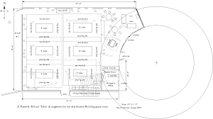 Crown Hall Floor Plan History Of Sub Game Room And Table Layouts