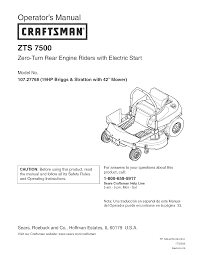 craftsman lawn mower 107 27768 user guide manualsonline com