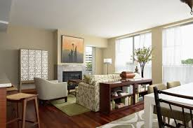 neutral apartment interior themed in cozy living room design idea