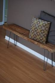 steal this look diy entryway with hairpin leg bench benches