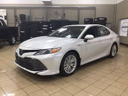 new 2018 toyota camry hybrid xle 4 door car in sherwood park
