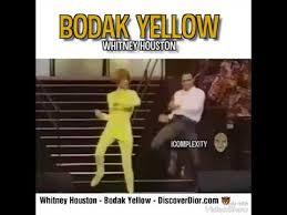 Yellow Meme - whitney houston bodakyellow meme youtube