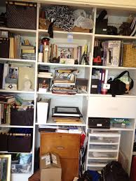 Small Desk Organization by Home Office Closet Before And After