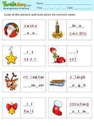 missing letters christmas spelling sheet worksheet turtle diary