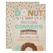donut party invitations u0026 announcements zazzle