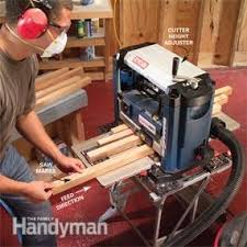 Woodworking Bench Top Thickness by How To Use A Benchtop Wood Planer U2014 The Family Handyman